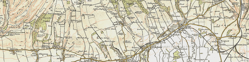 Old map of Wykeham Grange in 1903-1904