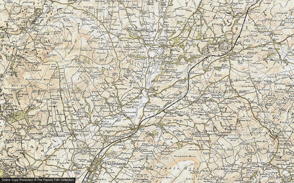 Old Map of Historic Map covering Lawson Ho in 1903-1904