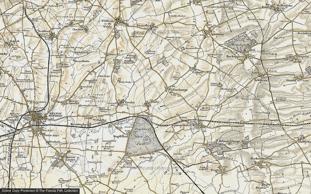 Old Map of Saxby, 1901-1903 in 1901-1903
