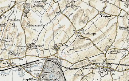 Old map of Saxby in 1901-1903