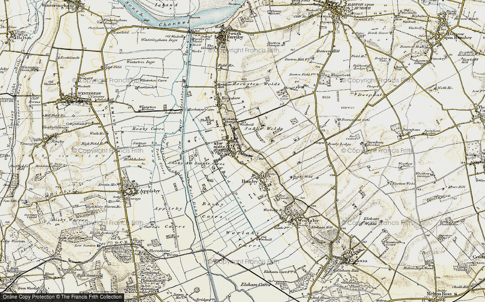 Old Map of Saxby All Saints, 1903-1908 in 1903-1908