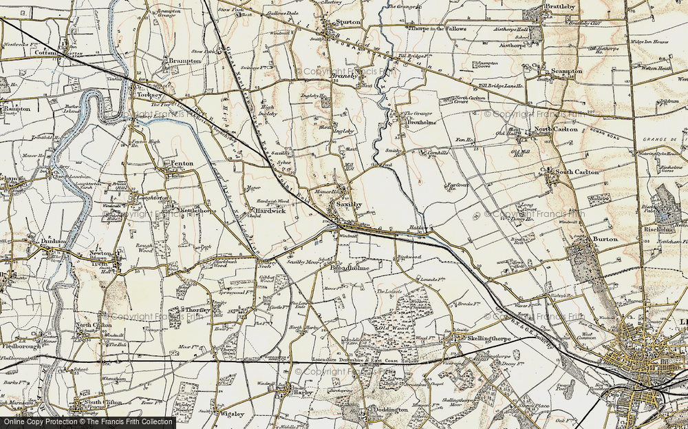 Old Map of Saxilby, 1902-1903 in 1902-1903