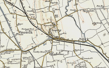Old map of Saxilby in 1902-1903