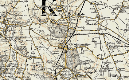 Old map of Saxmundham in 1898-1901