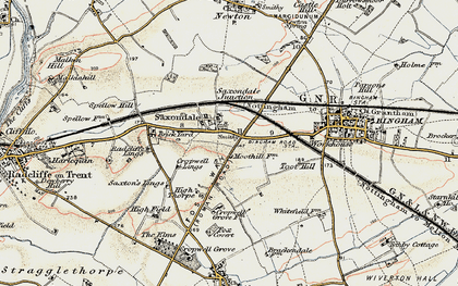 Old map of Toot Hill in 1902-1903