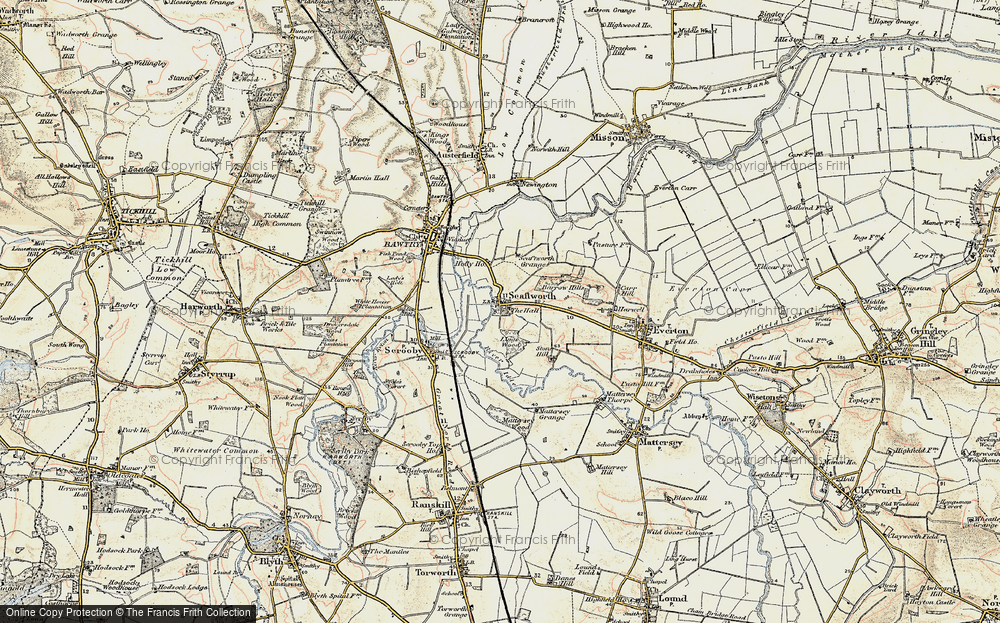 Old Map of Historic Map covering Ling's Wood in 1903