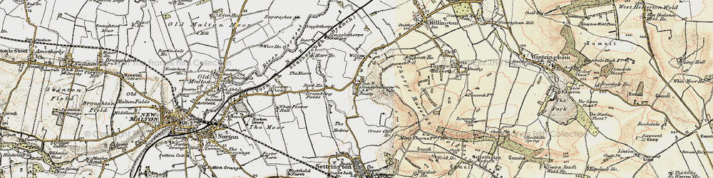 Old map of Whinflower Hall in 1903-1904