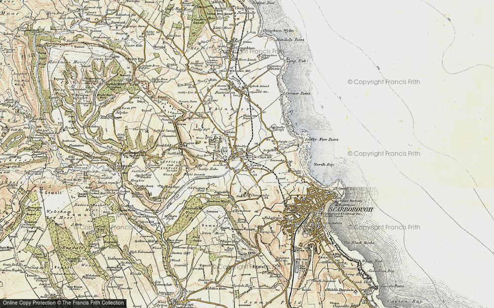 Old Map of Scalby, 1903-1904 in 1903-1904