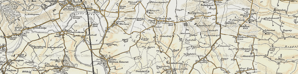 Old map of Wigney Wood in 1898-1901