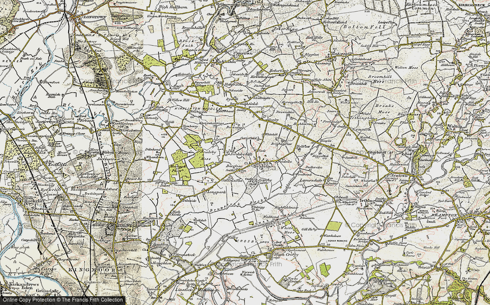 Old Map of Scalebyhill, 1901-1904 in 1901-1904