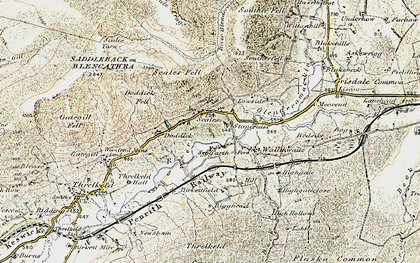 Old map of Bannerdale Crags in 1901-1904