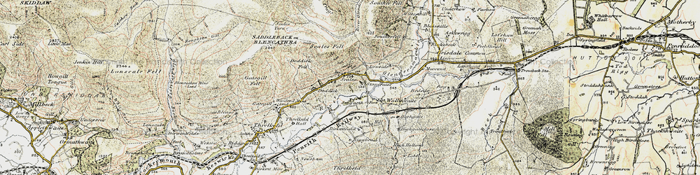 Old map of White Horse Bent in 1901-1904