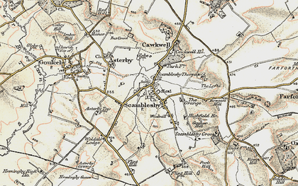 Old map of Woldale Lodge in 1902-1903