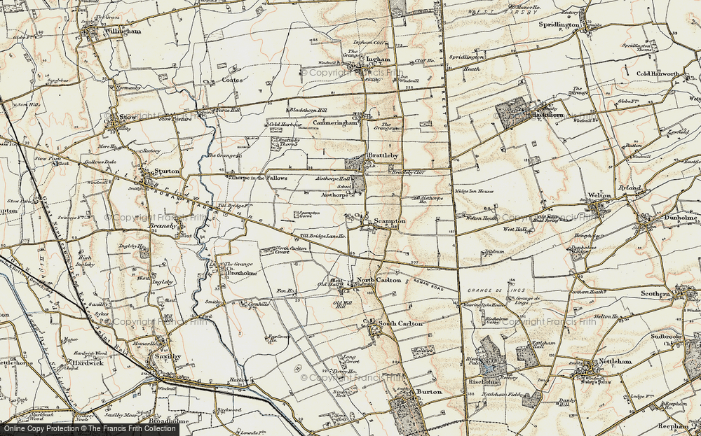 Old Map of Historic Map covering Till Bridge Lane Ho in 1902-1903