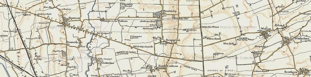 Old map of Till Bridge Lane Ho in 1902-1903