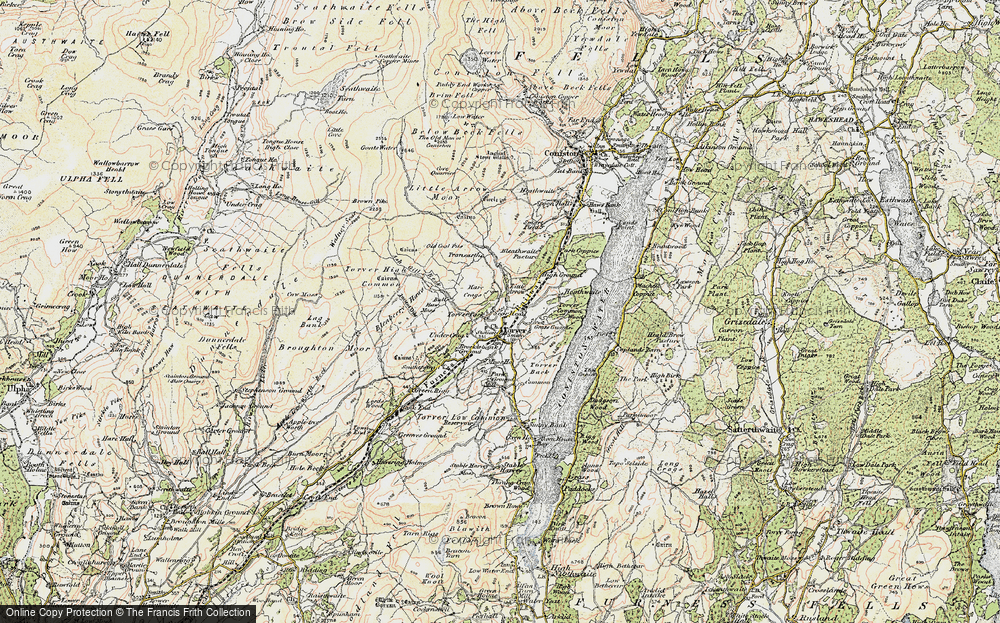 Old Map of Historic Map covering Ash Gill Beck in 1903-1904