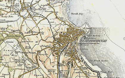Old map of Scarborough in 1903-1904