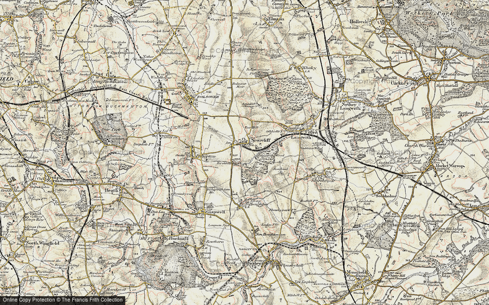 Old Map of Historic Map covering Langwith Wood in 1902-1903