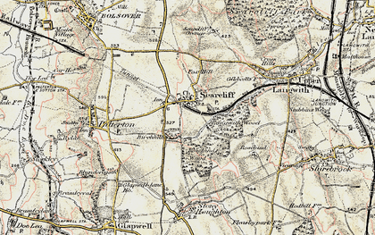 Old map of Langwith Wood in 1902-1903