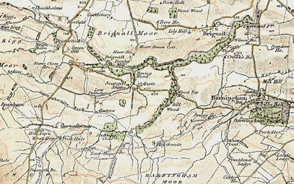 Old map of Badger Way Stoop in 1903-1904
