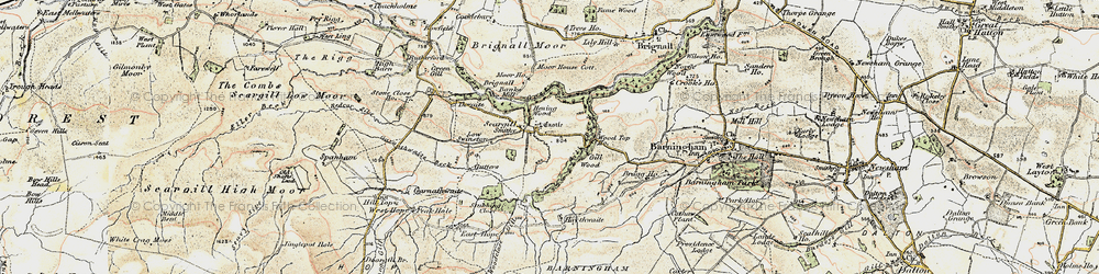 Old map of Thwaite Beck in 1903-1904