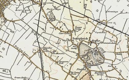 Old map of Scarisbrick in 1902-1903