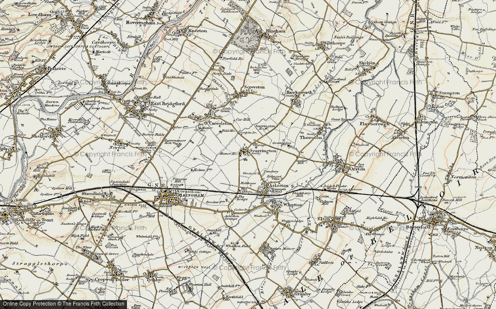 Old Map of Scarrington, 1902-1903 in 1902-1903