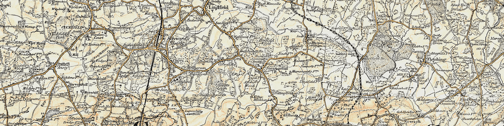 Old map of Abbots Leigh in 1898