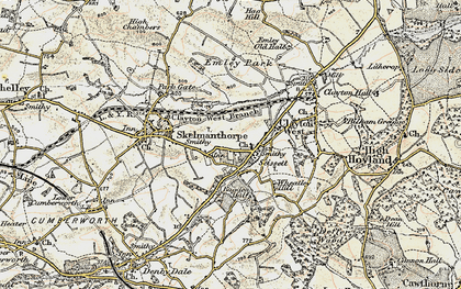 Old map of Bagden Hall in 1903