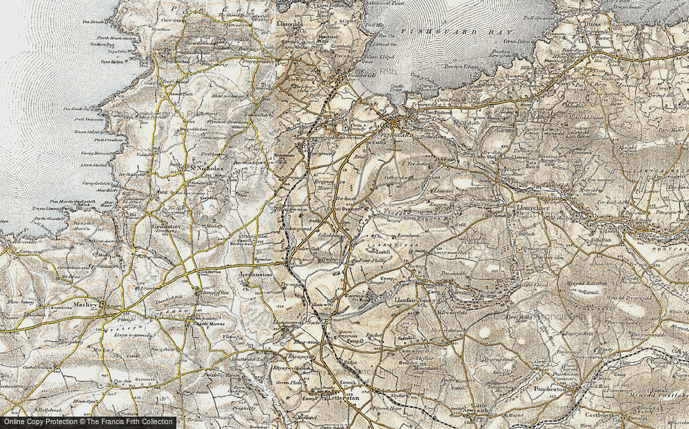 Old Map of Historic Map covering Langton in 1901-1912