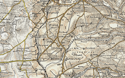Old map of Langton in 1901-1912