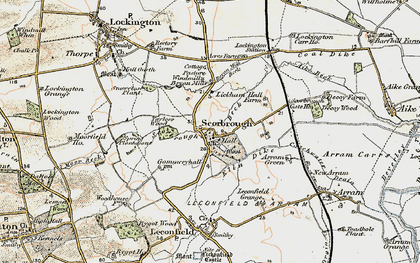 Old map of Lickham Hall in 1903-1908