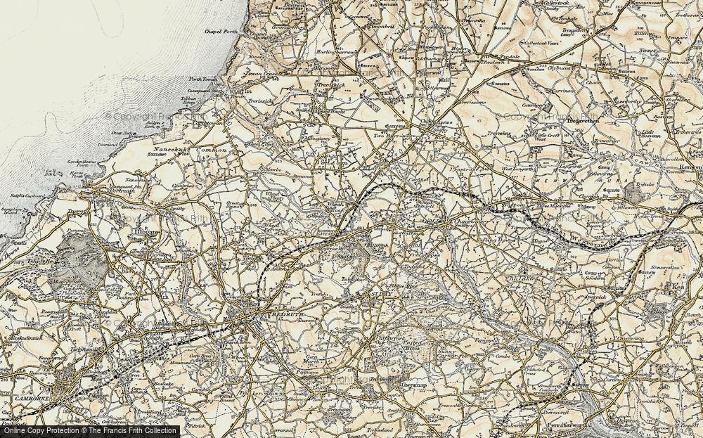 Old Map of Scorrier, 1900 in 1900
