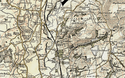 Old map of Wyresdale Park in 1903-1904