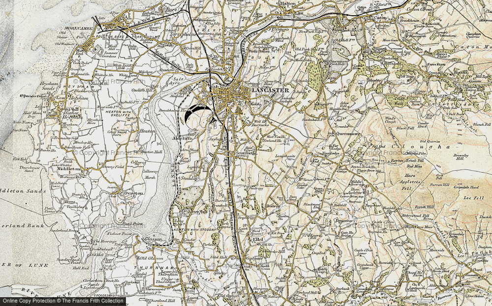 Old Map of Historic Map covering Langthwaite in 1903-1904