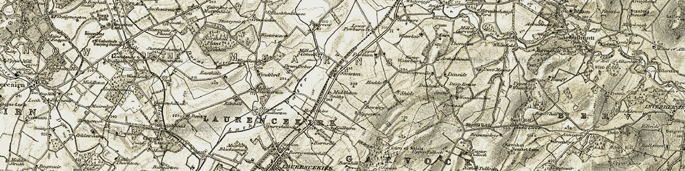 Old map of Westerton in 1908