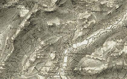 Old map of Allt nan Cailleach in 1906-1908