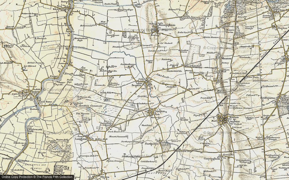 Old Map of Scotter, 1903 in 1903
