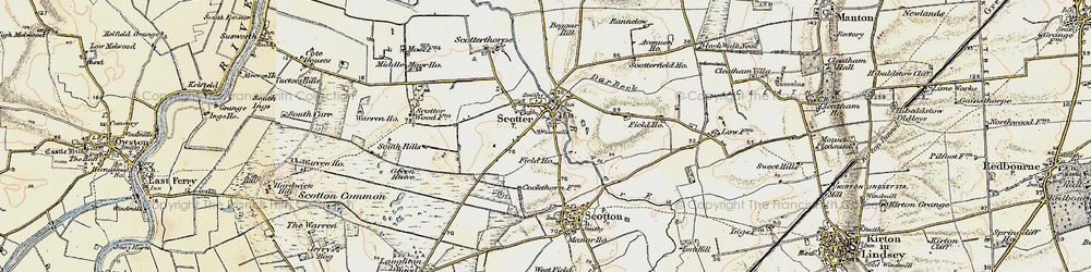 Old map of Scotter in 1903