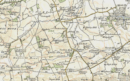 Old map of Whinny Hill in 1903-1904