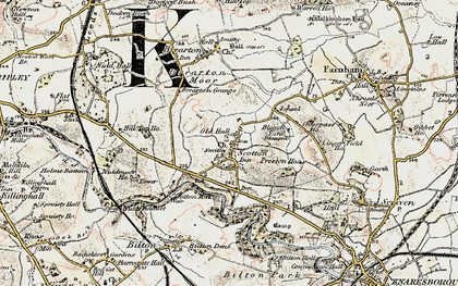 Old map of Lingerfield in 1903-1904