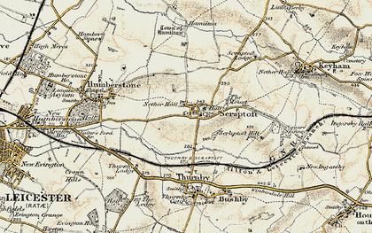 Old map of Scraptoft in 1901-1903