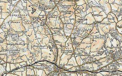 Old map of Scredda in 1900