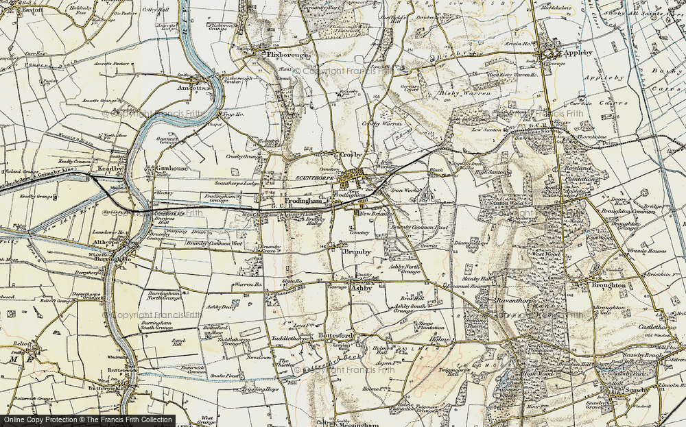 Map Of Scunthorpe Old Maps of Scunthorpe   Francis Frith Map Of Scunthorpe