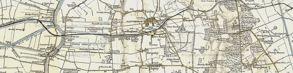 Old map of Scunthorpe in 1903