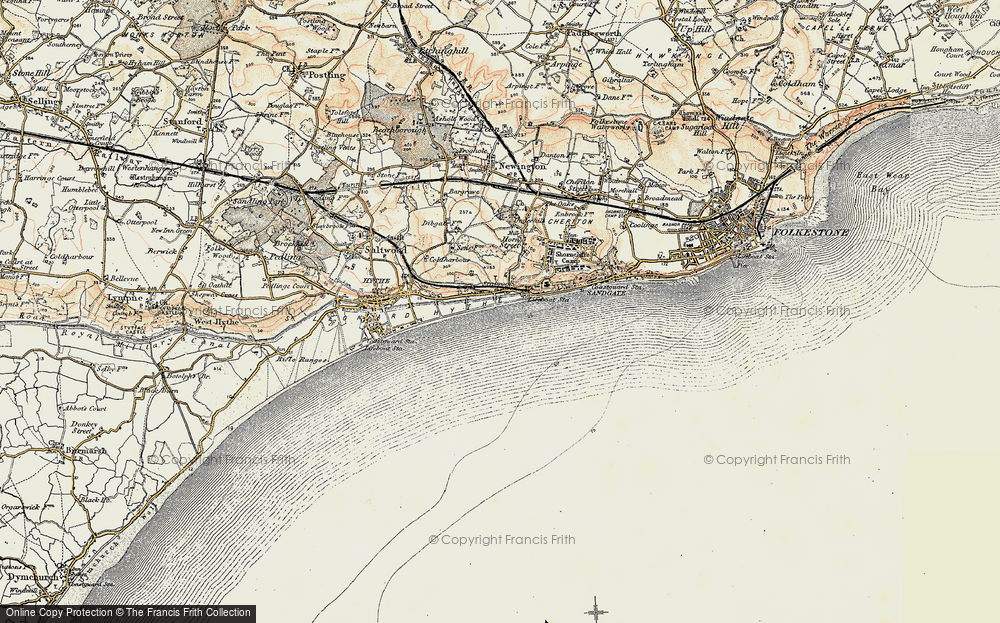 Old Map of Seabrook, 1898-1899 in 1898-1899