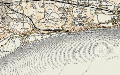 Old map of Seabrook in 1898-1899