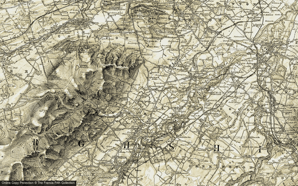 Old Map of Historic Map covering Woodfield in 1903-1904