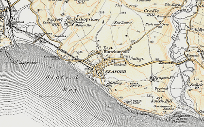 Old map of Seaford in 1898