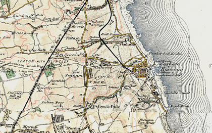Old map of Seaham in 1901-1904